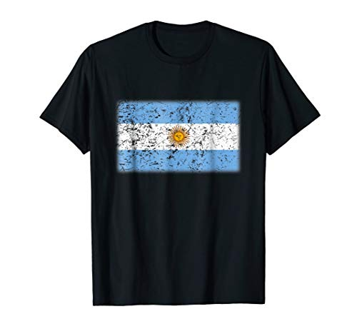 (Argentina Flag T-Shirt | Vintage Made In Argentina)