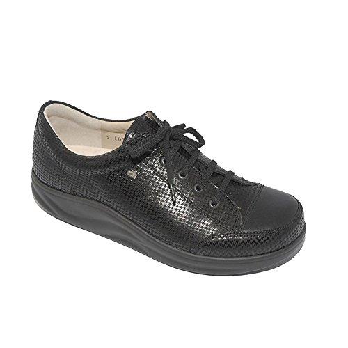 Finn Comfort Women's Ikebukuro Modern Fashion Sneakers, Grey, Leather, 6.5 UK / 9 M US by Finn Comfort (Image #1)