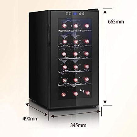 YFGQBCP 18 Botellas de compresor Doble Zona Independiente del refrigerador de Vino del refrigerador/Enfriador-Rojo/Blanco Vino, Cerveza y champaña Bodega-Digital Display Temperatura-Doble Capa de
