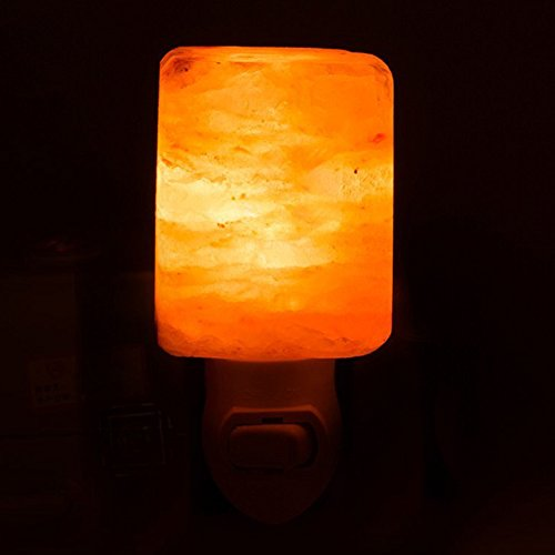 Mini Portable Himalayan Salt Light with UL Wall Plug, 15W Crystal Lamp Accent Night Light Bedroom Nursery Decor for Zen Yoga Meditation Ancient Wisdom by COUTUDI