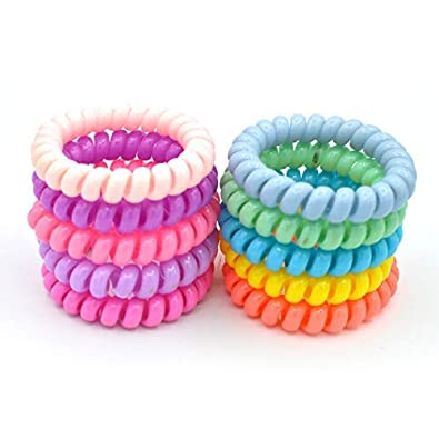 Buy INFInxt Rubber Ponytail Holder Spiral Hair Bands (Glossy) - Set of 10  Pieces Online at Low Prices in India  094113ee668