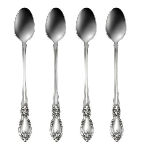 Oneida Louisiana Iced Tea Spoons, Set of 4
