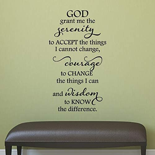 com wall quote decal serenity prayer religious bible pray
