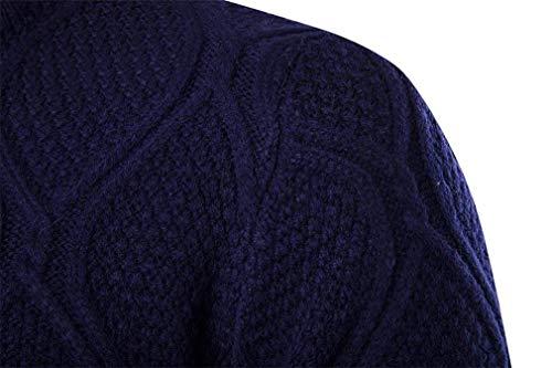 Décontracté Manches Hiver Longues Moderne Couleur Made Tricot Pull Col Blau Rond Automne Hommes Découpé Pure Top À Élégant w4XEnRq