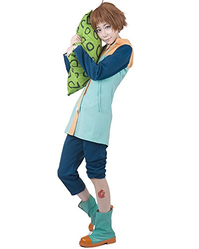 Miccostumes Mens The Seven Deadly Sins King Cosplay Costume MM Blue -