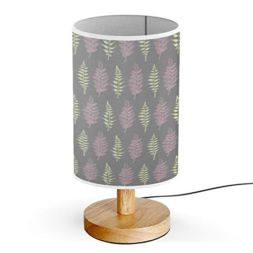 ARTSYLAMP - Wood Base Decoration Desk Table Bedside Light Lamp [ Fern Leaves Hand ] ()