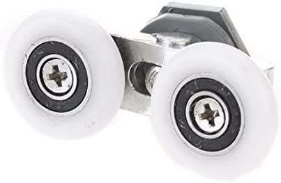 REFURBISHHOUSE Douche Double Roues de Remplacement Porte Rouleau compresseur diametre de la Roue 25mm