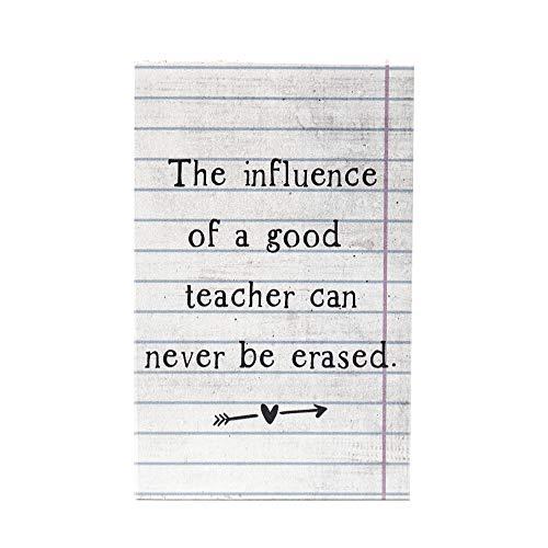 (Sincere Surroundings Teacher Influence 3.5 x 5.25 Solid Wood Plaque Sign)