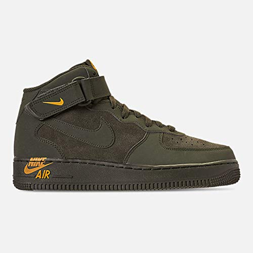 - Nike Mens Air Force 1 MID Emblem Shoes Sequoia/Yellow Ochre 315123-304 Size 8.5