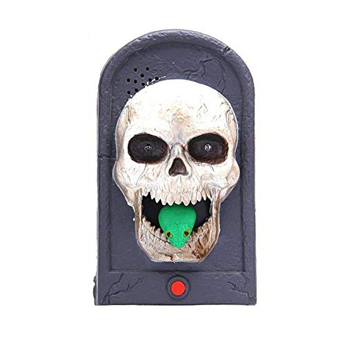 Halloween - Halloween Light Up Eyeball Skull Doorbell Talking Scary Sounds Door Decorations Kids Gift Toys - Party Decorations Party Decorations Halloween Skeleton Door Eyeball Dora Squishy -