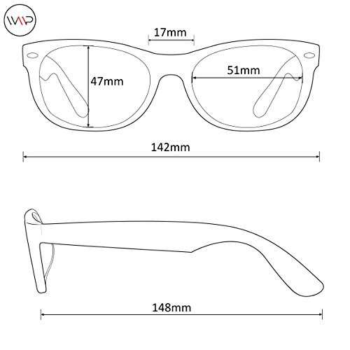 WearMe Pro Classic Small Round Retro Sunglasses, Tortoise Frame/Black Lens by WearMe Pro (Image #3)
