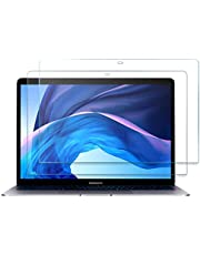 "[2 Pack]ProCase MacBook Pro 13/MacBook Air 13 Screen Protector, Tempered Glass Screen Film Guard for 13"" MacBook Pro & MacBook Air (A2338 M1 A2289 A2251 A2159 A1989 A1706 A1708 / A2337 M1 A2179 A1932)"