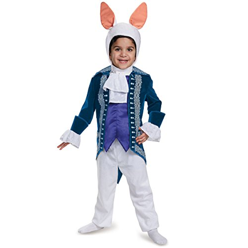 White Rabbit Toddler Deluxe Alice Through The Looking Glass Movie Disney Costume, Small/2T -