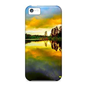 New Style DustinHVance Hard Case Cover For Iphone 5c- Lake At Dusk