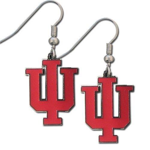 Enameled Pierced Earrings - NCAA Indiana Hoosiers Dangle Earrings