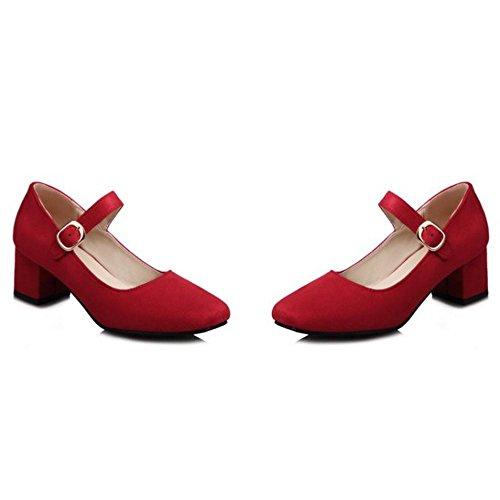 Mary Escarpins Soirée Chaussures Jane Mariage RAZAMAZA de Red Femmes gqAwz1nx5