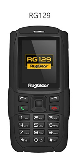 RugGear RG129, Unlocked Rugged Phone - Waterproof IP67 - Lightweight - GSM Quad Band (850/900/1800/1900Mhz) (Band Quad Phone Gsm)