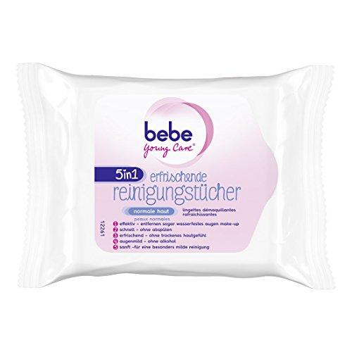 bebe Young Care 5in1 Erfrischende Reinigungstücher, 3er Pack (3 x 25 Stück)