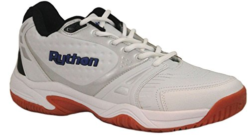 Python Men's Deluxe Indoor (Mid) Racquetball Shoe (Non-Marking) 12.5 (D) US White