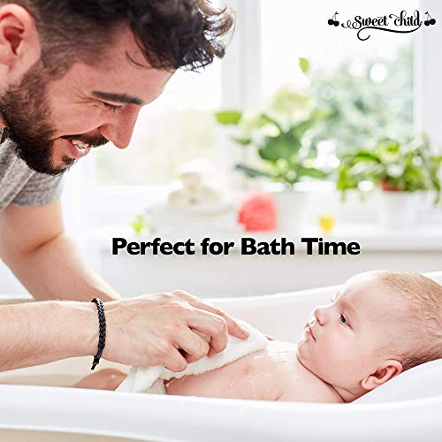 Sweet Child Baby Bamboo Washcloths - Premium Wash Cloth Set of 8 - Ultra Soft Kids/Infant Wash Cloths for Face and Body - Neutral Washcloth Pack - Top Baby Registry and Shower Gifts