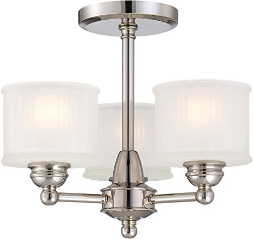 (Minka Lavery Semi Flush Mount Ceiling Light 1730 Series 1738-613 3LT 180 watt (13