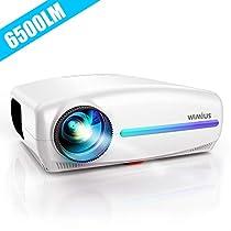 WiMiUS プロジェクター 高輝度6500lm 4K対応 ±50°デジタル台...
