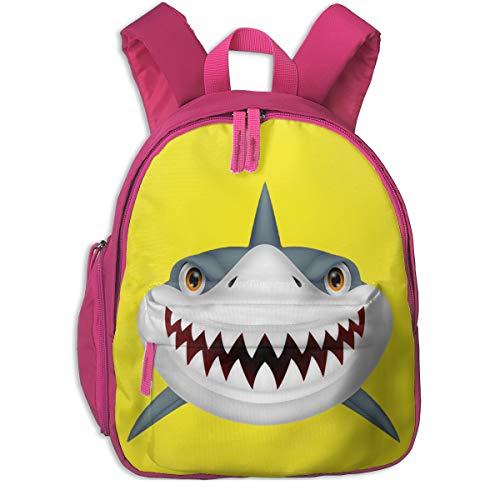 Cara De Tiburon Animado Toddler Backpack School Bag With Pocket For Boys/Girls ()