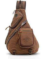 FANDARE Backpack Cross Body Bag Sling Bag Chest Pack Bag Men/Women Canvas