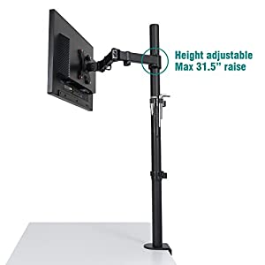 """Ollieroo Monitor Desk Mount Stand Extra Tall Fully Adjustable Stand for 13"""" to 27"""" Monitor"""