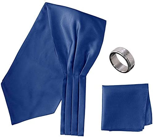 アスコットタイ・ポケットチーフ・タイリング マイクロポリ採用 チーフ メンズ タイリング:No.3 チーフ/タイ(タイプ/カラー):NavyBlue-B