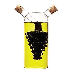 Kitchen Craft World of Flavours - Bottiglia di Vetro 2 in 1 per Olio e aceto, Motivo: Grappolo D'uva 1 spesavip