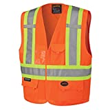 Pioneer Adjustable High Visibility Safety Vest, ID & Phone Pockets
