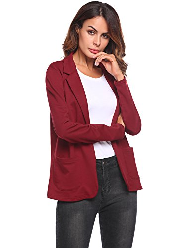 Bifast Women Comfortable Business Causal Office Wear Open Front Light Blazer by Bifast