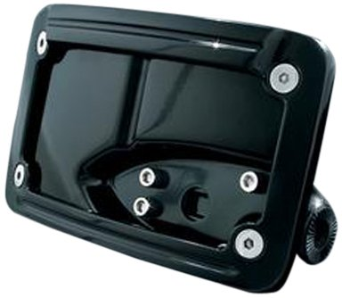 Kuryakyn 3125 Black Curved Horizontal Side Mount License Plate Frame