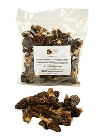 Dried Morel Mushrooms - 1 Oz. Bag - Dehydrated Edible Gourmet Yellow Morchella Esculenta Fungi: AKA Sponge Mushrooms