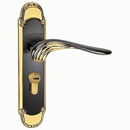 vanme antiguo cobre aleación de zinc puerta interior chino marca puerta cerraduras directa muesca palanca pomo