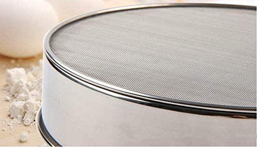 Hengdai Professional Round 18//8 Stainless Steel Flour Sieve with 60 Mesh 20CM