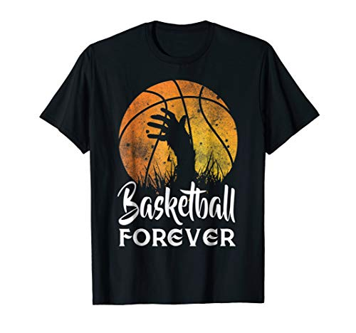 Basketball is Forever! Funny Zombie Basketball Halloween Tee