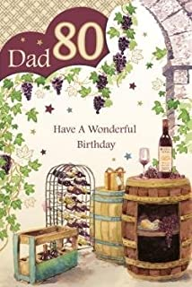 Twizler 80th birthday card roadsign 80 year old age 80 dad 80 80th happy birthday wine bottle barrel design good quality card with a lovely verse bookmarktalkfo Choice Image