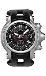 Oakley Men's Holeshot Unobtainium Stainless Steel Chronograph Tachymeter Watch - Black
