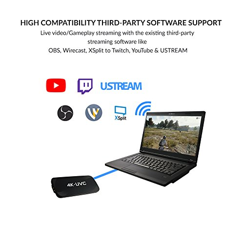 TEC HD PVR Game Capture Device Stream Master 4K Live Video and Gameplay  Streaming | 1080p 60 FPS HD Recording Low Latency USB 3 0 Technology