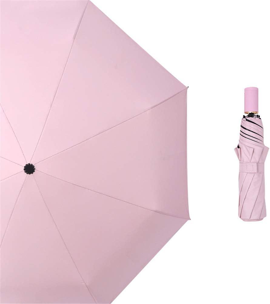 Paraguas Plegable con Compacto y Ligero a Prueba de Viento y Agua Resistente Paraguas de Viaje Paraguas plegable lluvia y lluvia protector solar de doble uso paraguas plástico negro colour2 99cm: Amazon.es: