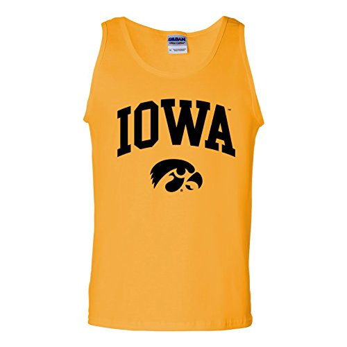 - AT03 - Iowa University Hawkeyes Arch Logo Mens Tank Top - Small - Gold