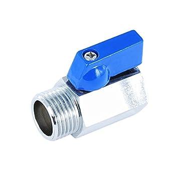 Conector de válvula de esfera de latón tipo mini con paso reducido, racor de rosca