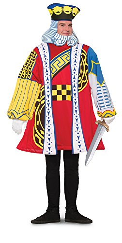 King of Hearts Playing Card Adult Costume (Playing Card Costumes)