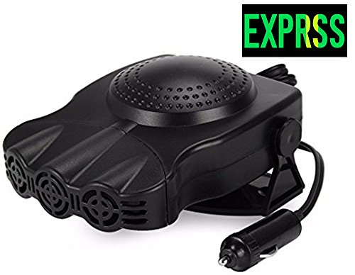 Car Heater: TevinExpress, Cooling, Heating, Fan, Portable, Defrosts, Defogger, Auto Ceramic Heater, 12V, 150W, 3-Outlet, Black | Plug Into Cigarette Lighter | Quickly Heats Fast, 30 Seconds