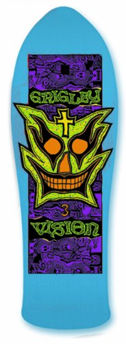 Vision Grigley III Reissue Skateboard Deck, Blue, 9.75 x 31-Inch