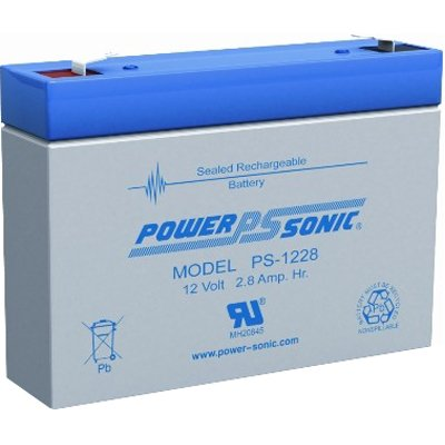 Price comparison product image Powersonic PS-1228 12V,  2.8 AH Rechargeable Lead Acid Battery