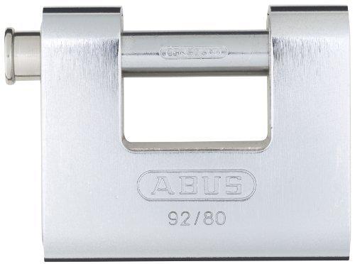ABUS 92/80 KA All Weather Solid Brass with Steel Jacket Monoblock Keyed Alike Padlock by ABUS