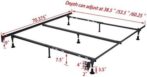 home, kitchen, furniture, bedroom furniture, beds, frames, bases,  bed frames 3 on sale Heavy Duty 7-Leg Adjustable Metal Queen, Full promotion